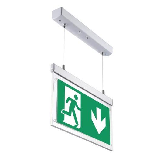 Εικόνα της LED Φωτιστικό Ασφαλείας Κρεμαστό 2W