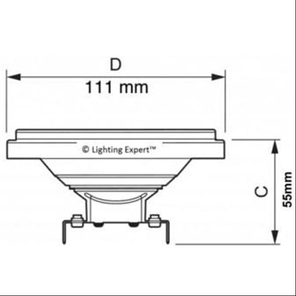 Εικόνα της Λαμπτήρας Led AR111 30° 12Watt Θερμό λευκό