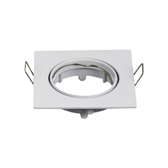 Εικόνα της Βάση Σποτ MR16 Τετράγωνο Κινητό Λευκό