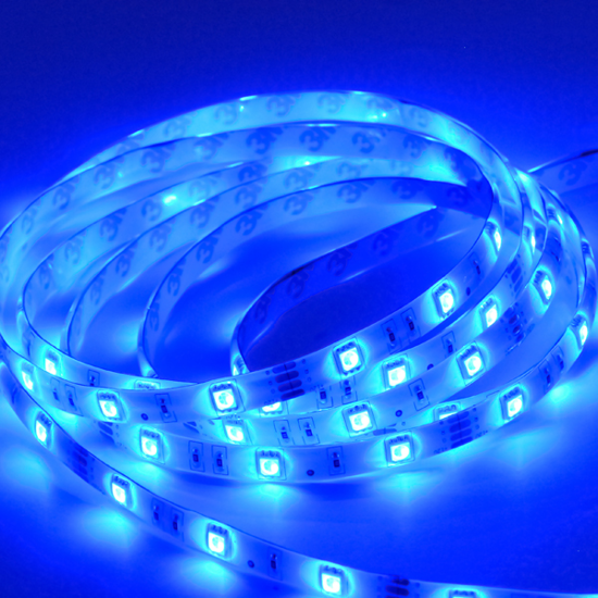 Εικόνα της Ταινία led strip Professional IP20 4.8 watt με 60 led 3528 smd ανα μέτρο Μπλε