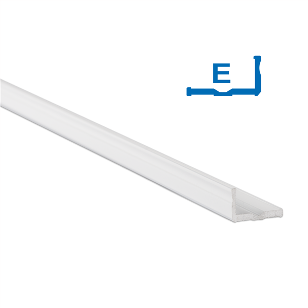 Εικόνα της Προφίλ Αλουμινίου Ταινίας Led Type E Λευκή Ανοδίωση