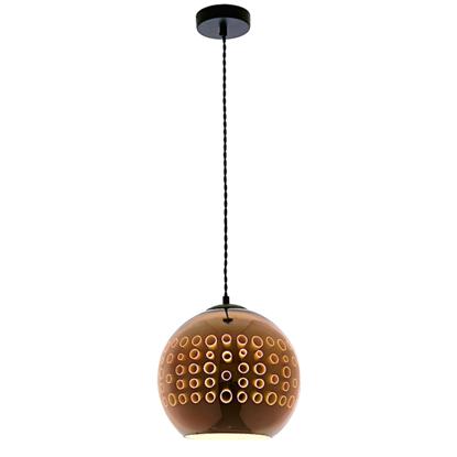 Εικόνα της Φωτιστικό 3D Κόσμημα από Γυαλί Χαλκό με Κύκλους D250