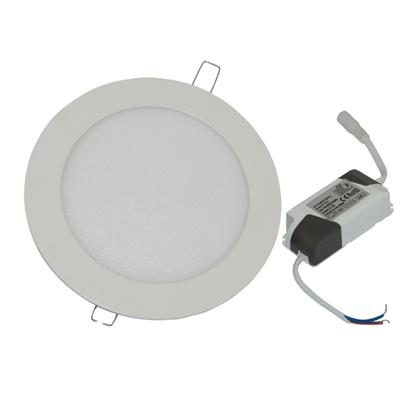 Εικόνα της Led Mini Panel στρογγυλό χωνευτό 3watt Θερμό λευκό