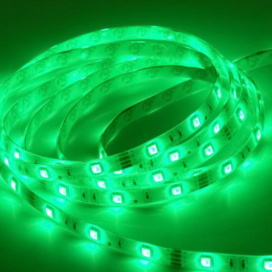 Εικόνα της Ταινία led αδιάβροχη Professional IP65 4.8 watt με 60 led 3528 smd ανα μέτρο Πράσινο