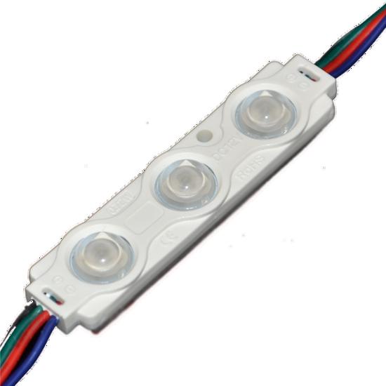 Εικόνα της LED LENS MODULE 3 5050 160° DC12V 0.72W IP65 RGB
