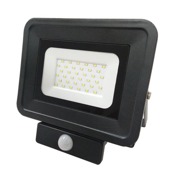 Εικόνα της LED Προβολέας SMD 30 Watt  Classic Line2 με Ανιχνευτή Κίνησης Θερμό Λευκό Μαύρος