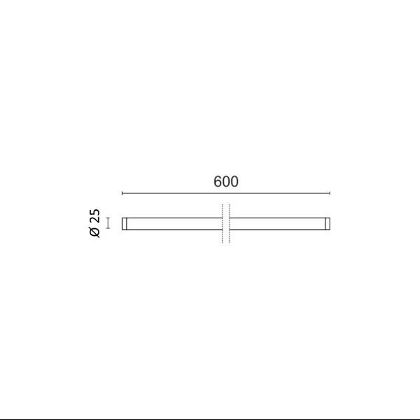 Εικόνα της Λάμπα Nano Plastic φθορίου T8 Led 60cm T8 9W 1050Lm Θερμό λευκό