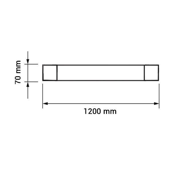 Εικόνα της Led Φωτιστικό Γραμμικό IP20 120CM 40W 3000K