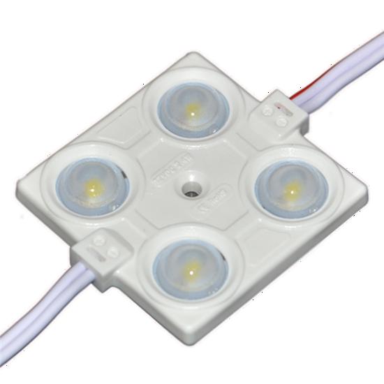 Εικόνα της LED LENS MODULE 4 2835 160° DC12V 2.4W IP65 6500K