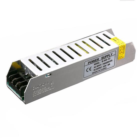 Εικόνα της Τροφοδοτικό Slim LED 60Watt 12V 5A Σταθεροποιημένο