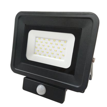 Εικόνα της LED Προβολέας SMD 50 Watt  Classic Line2 με Ανιχνευτή Κίνησης Ψυχρό Λευκό Μαύρος
