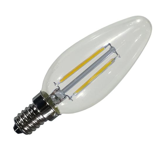 Εικόνα της Filament E14 Λάμπα Led Κερί 4W 400Lm Θερμό λευκό Dimmable