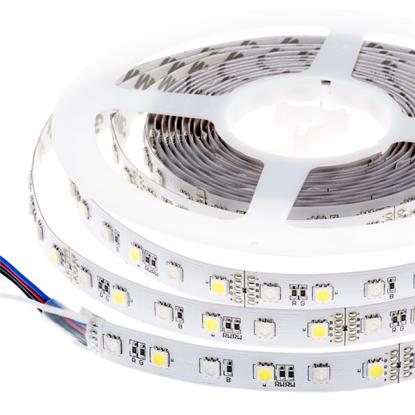 Εικόνα της Ταινία led IP20 14.4 watt με 60 led 5050 smd ανα μέτρο RGB Θερμό λευκό