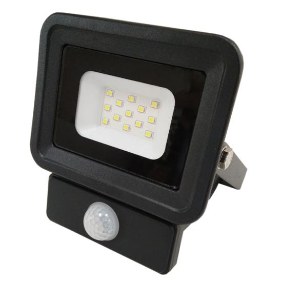 Εικόνα της LED Προβολέας SMD 10 Watt  Classic Line2 με Ανιχνευτή Κίνησης Φυσικό Λευκό Μαύρος