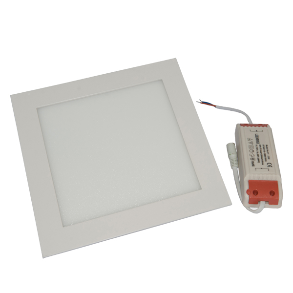 Εικόνα της Φωτιστικό οροφής τετράγωνο panel Led χωνευτό 18watt Θερμό λευκό