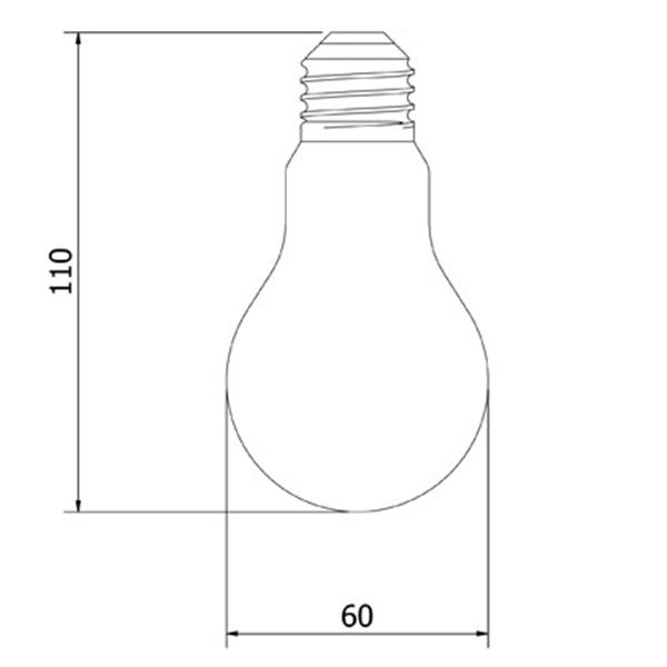 Εικόνα της Filament E27 Λάμπα Led A60 5W 600Lm Θερμό λευκό