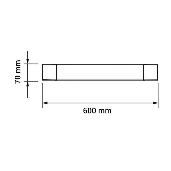 Εικόνα της Led Φωτιστικό Γραμμικό IP20 60CM 20W 3000K