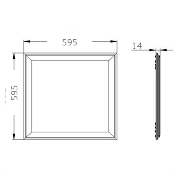 Εικόνα της Panel Led 60cm*60cm 25w 120Lm/w Φυσικό Λευκό