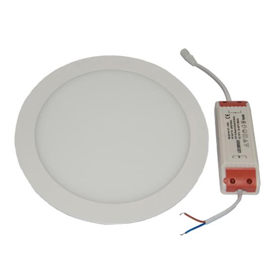 Εικόνα της Led Mini Panel στρογγυλό χωνευτό 18watt Ψυχρό λευκό