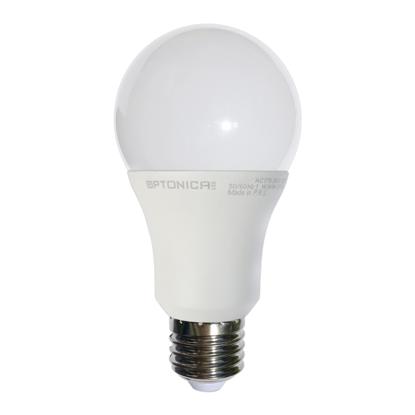 Εικόνα της LED Πλαστικη Λαμπα Ε 27 Α60 5 Χονια Εγγυηση Ψυχρο Λευκο