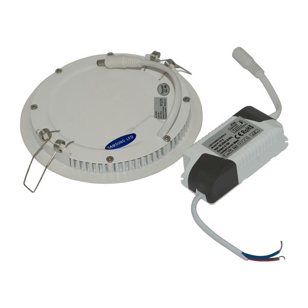 Εικόνα της Φωτιστικό οροφής στρογγυλό  panel Led χωνευτό 24watt Φυσικό λευκό