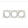 Εικόνα της Βάση Σποτ Τριπλή AR111 Τετράγωνο Κινητό Λευκή