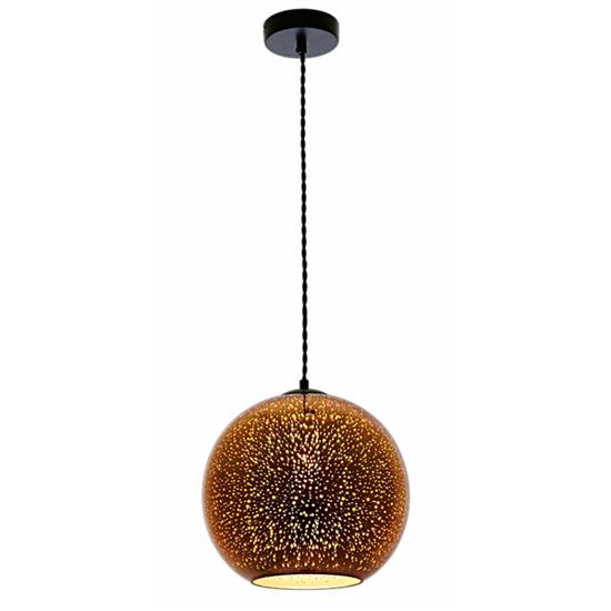 Εικόνα της Φωτιστικό 3D Κόσμημα από Γυαλί Χαλκό με Πυροτεχνήματα D300
