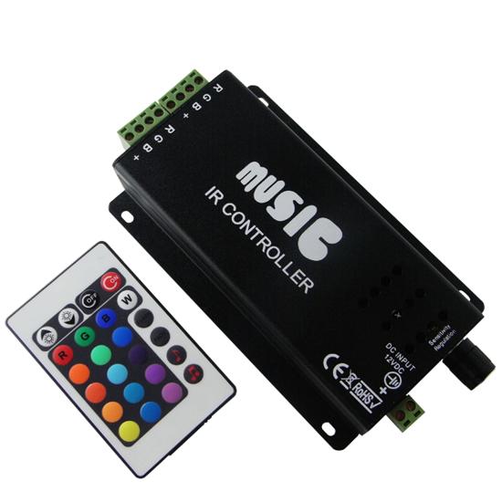 Εικόνα της Music RGB Controller με Dimmer για ταινία Led 216w