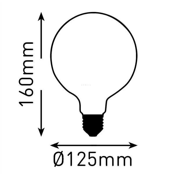 Εικόνα της Filament E27 Λάμπα Led G125 4W 400Lm Θερμό λευκό