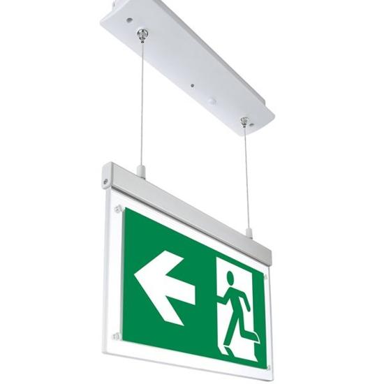 Εικόνα της LED Φωτιστικό Ασφαλείας Χωνευτό Κρεμαστό 2W