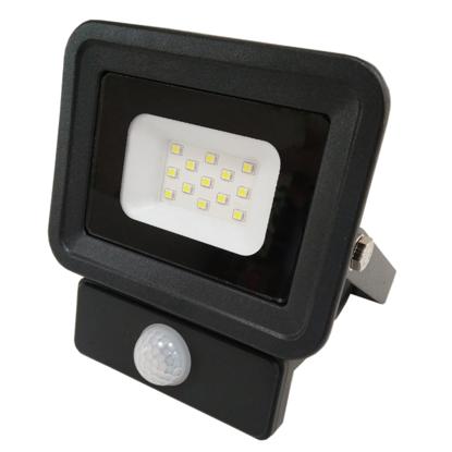 Εικόνα της LED Προβολέας SMD 10 Watt  Classic Line2  με Ανιχνευτή Κίνησης Θερμό Λευκό Μαύρος