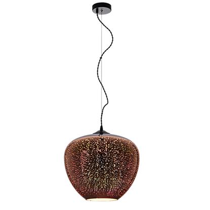 Εικόνα της Φωτιστικό 3D Κρεμαστό από Γυαλί Χαλκό με Πυροτεχνήματα D400