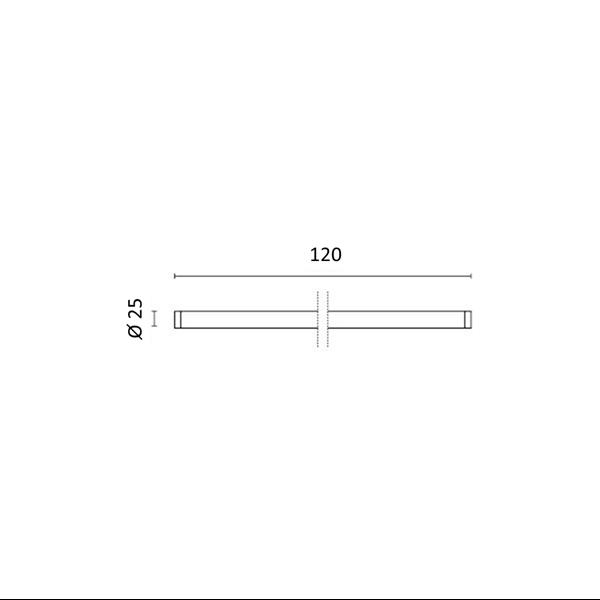 Εικόνα της Λάμπα Nano Plastic φθορίου T8 Led 120cm T8 18W 2150Lm Θερμό λευκό