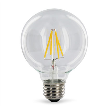 Εικόνα της Filament E27 Λάμπα Led G125 4W 400Lm Φυσικό λευκό