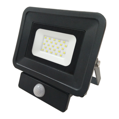 Εικόνα της LED Προβολέας SMD 20 Watt  Classic Line2 με Ανιχνευτή Κίνησης Ψυχρό Λευκό Μαύρος