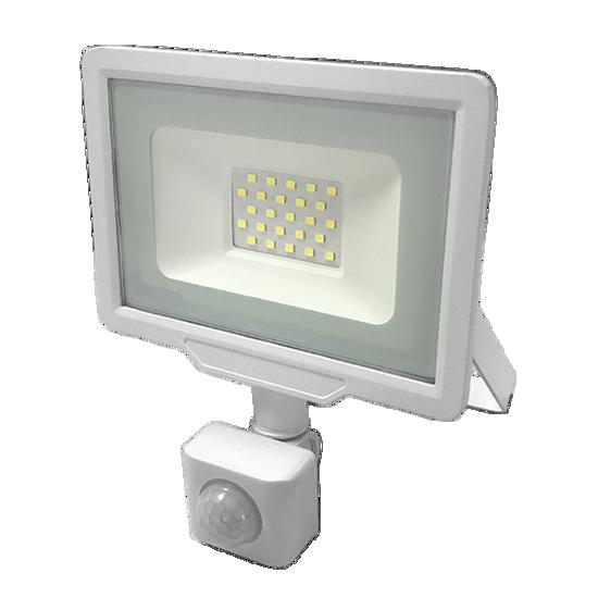 Εικόνα της LED Προβολέας 20 Watt  City Line με Ανιχνευτή Κίνησης Φυσικό Λευκό