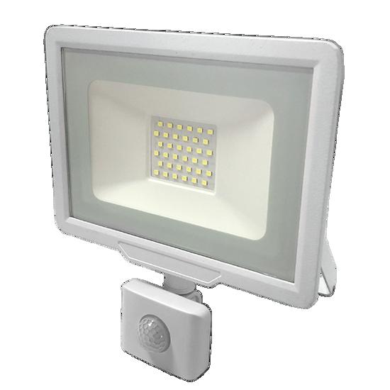 Εικόνα της LED Προβολέας 30 Watt  City Line με Ανιχνευτή Κίνησης Ψυχρό Λευκό