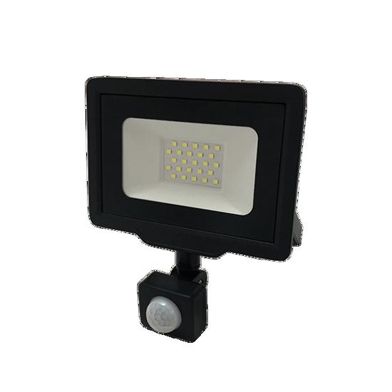 Εικόνα της LED Προβολέας 20 Watt  City Line με Ανιχνευτή Κίνησης Ψυχρό Λευκό Μαύρος