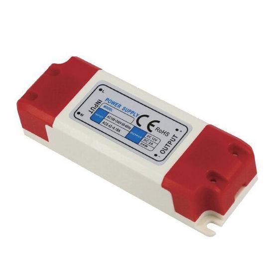 Εικόνα της Τροφοδοτικό LED Πλαστικό 24Watt 12V 2A Σταθεροποιημένο 110-220V/AC