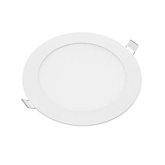 Εικόνα της LED Mini Panel Στρογγυλό Χρωματική Λορίδα 12W Ψυχρό Λευκό