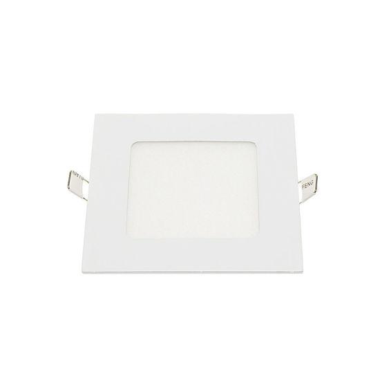Εικόνα της LED Mini Panel Τετράγωνο Χρωματική Λορίδα 6W Θερμό Λευκό