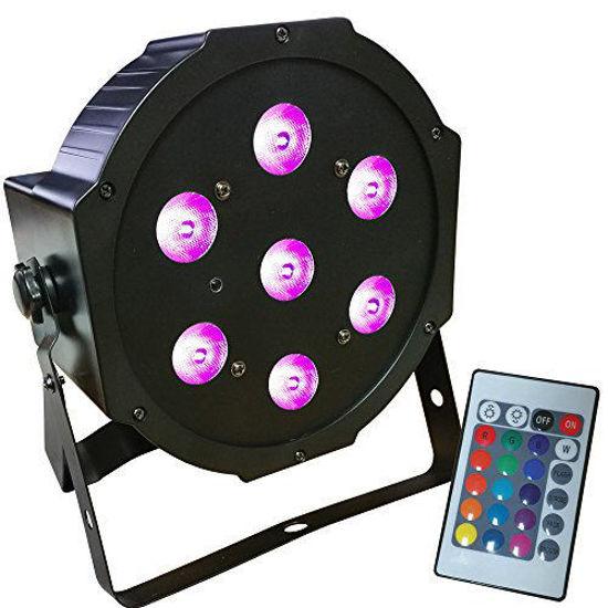Εικόνα της 7*10W Remote Mini RGB+WW LED PAR Light 70W RGBWW