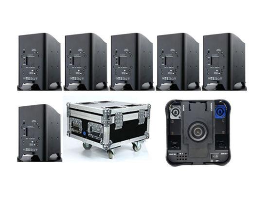 Εικόνα της 4*10W Wifi Control Wireless Remote  RGBWA+UV+ Flight Case