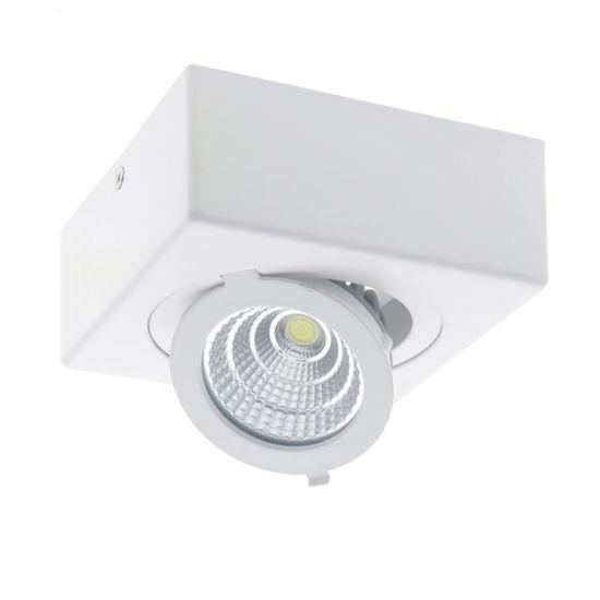 Εικόνα της LED COB Επιφανειακο Σποτ Τετραγωνο Ρυθμιζομενο 12W Ψυχρο Λευκο