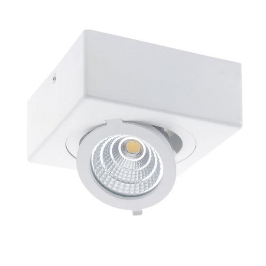 Εικόνα της LED COB Επιφανειακο Σποτ Τετραγωνο Ρυθμιζομενο 12W Θερμο Λευκο