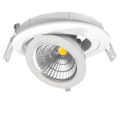 Εικόνα της LED COB Adjustable Downlight Στρογγυλό 12W Φυσικό Λευκό