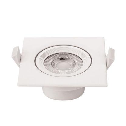 Εικόνα της LED COB Downlight Τετράγωνο Περιστρεφόμενο 7W Θερμό Λευκό